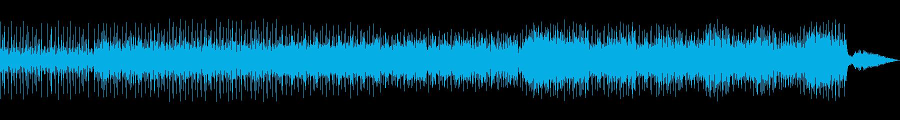 和太鼓が躍動する和風のリズムの再生済みの波形