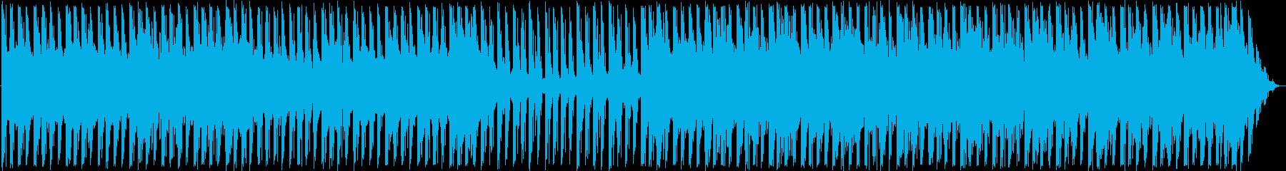 夜の光をイメージした四つ打ちの再生済みの波形