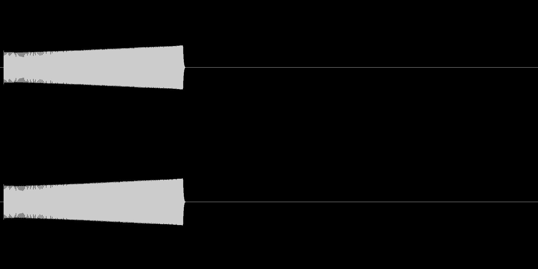 パチンコ用リーチ演出用効果音の未再生の波形