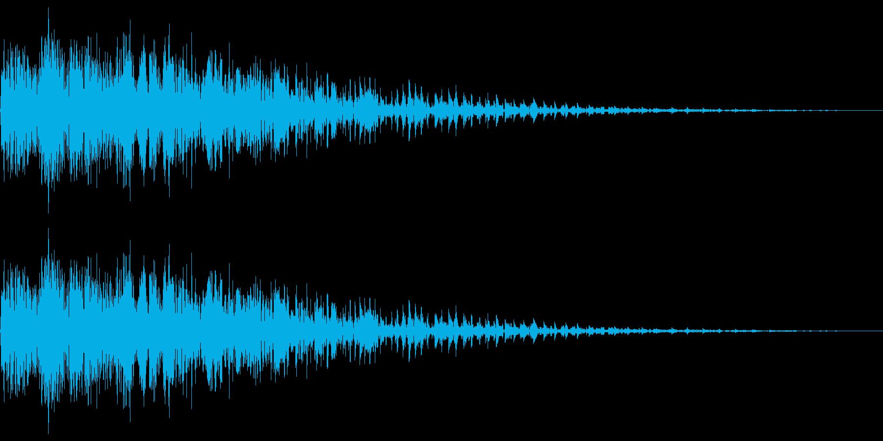 ピユーン(エフェクト_ダウン_低音)の再生済みの波形