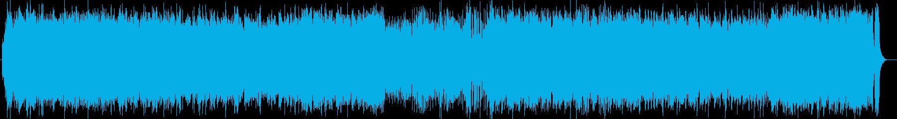 壮大な印象のピアノシンセの再生済みの波形
