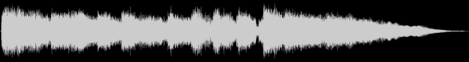 場面転換を想定したエレキギターのジングルの未再生の波形