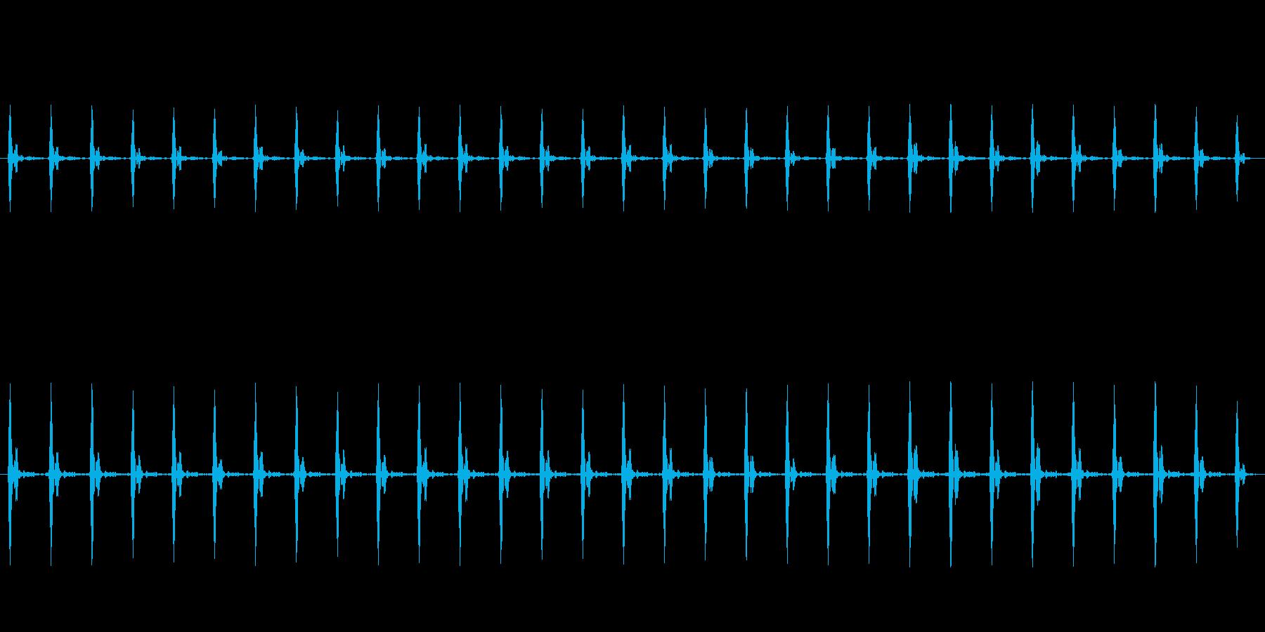 ホラーなどに適した低めの心臓の鼓動②の再生済みの波形