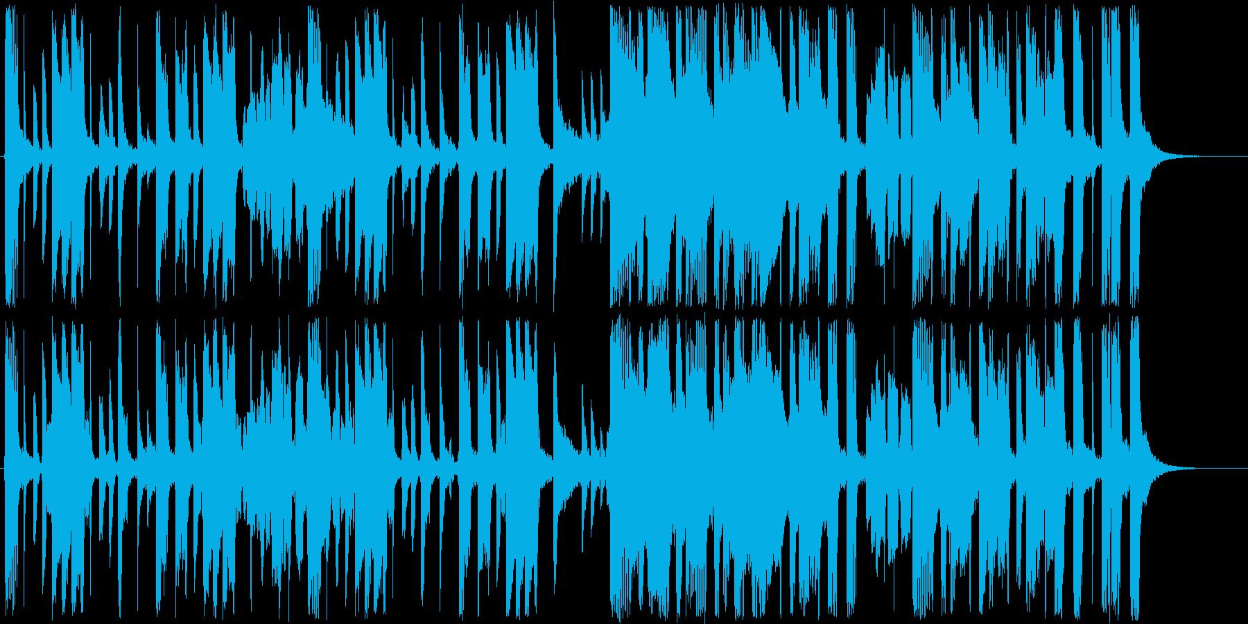 明るいアップテンポのJAZZの再生済みの波形