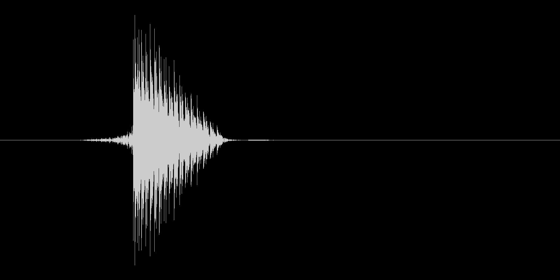 ゲーム(ファミコン風)ヒット音_036の未再生の波形