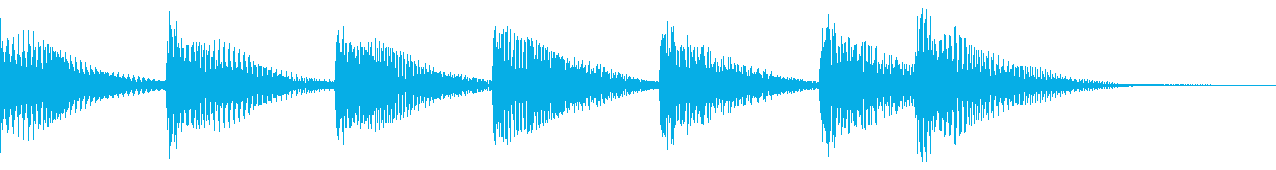場面転換、締め、落ち、明るく可愛く木琴での再生済みの波形