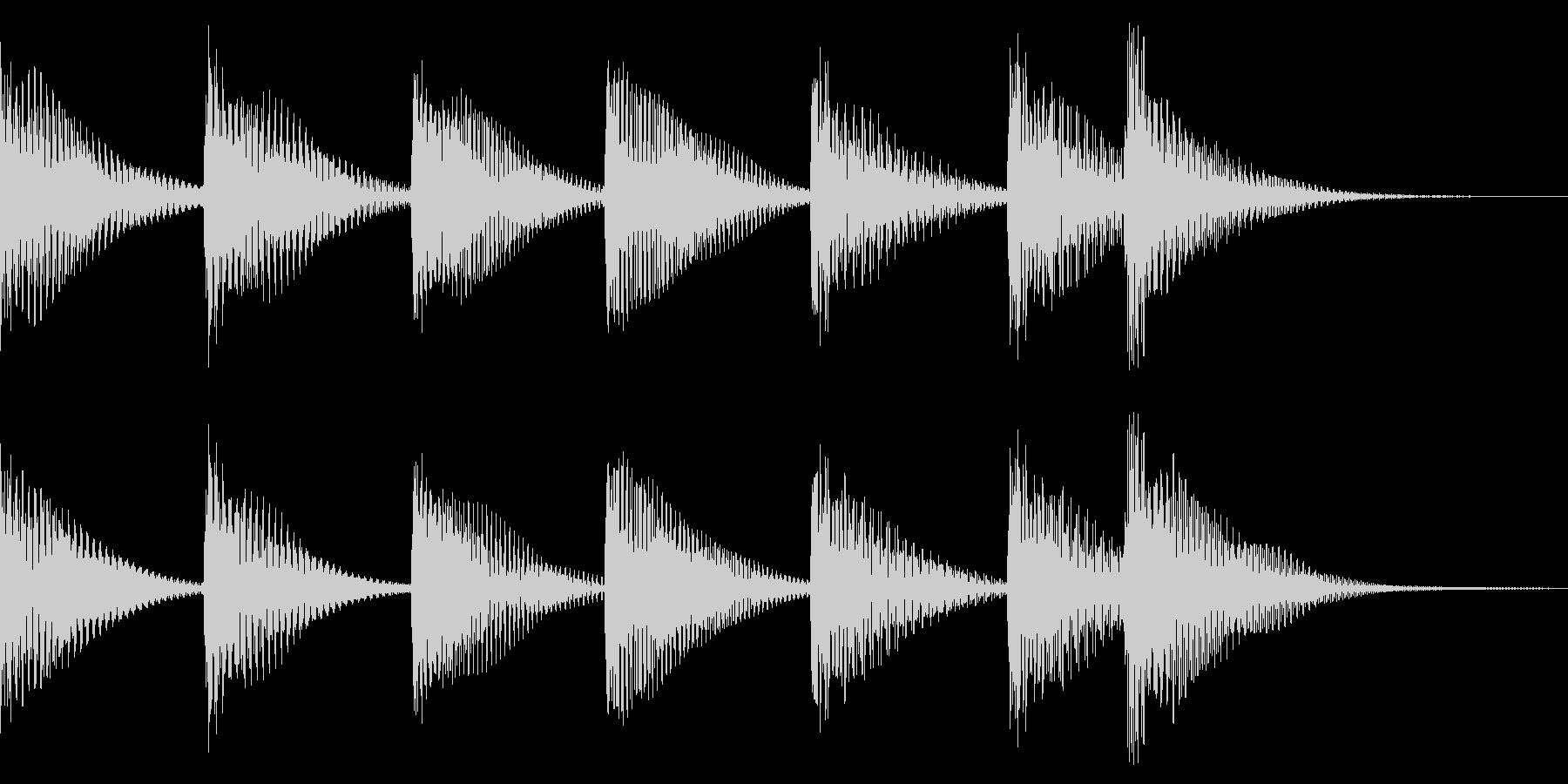 場面転換、締め、落ち、明るく可愛く木琴での未再生の波形