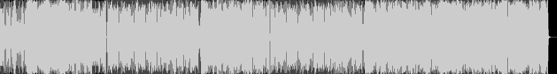 軽快なエレクトリックポップスの未再生の波形