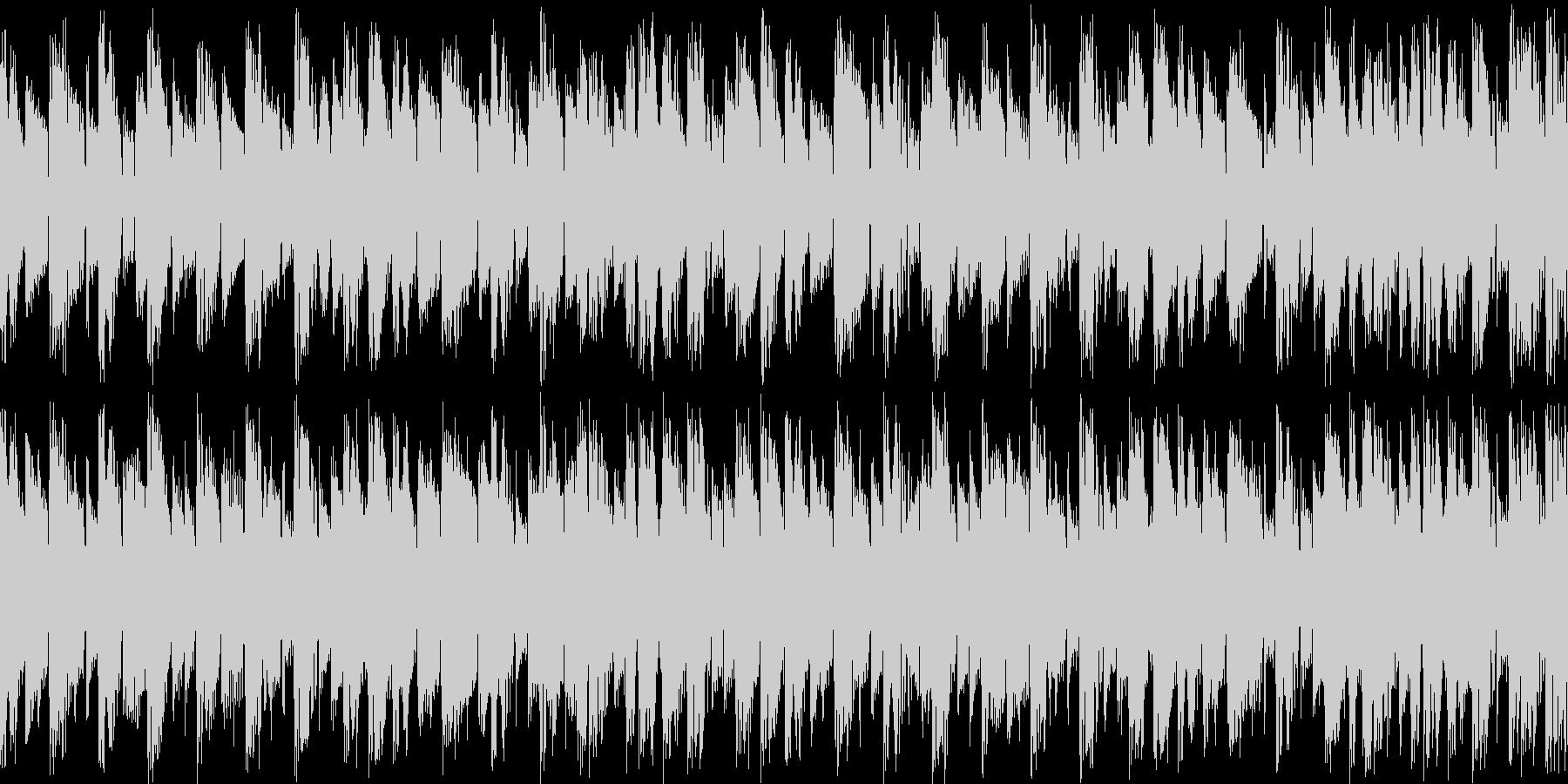 デジロック風四つ打ちループの未再生の波形