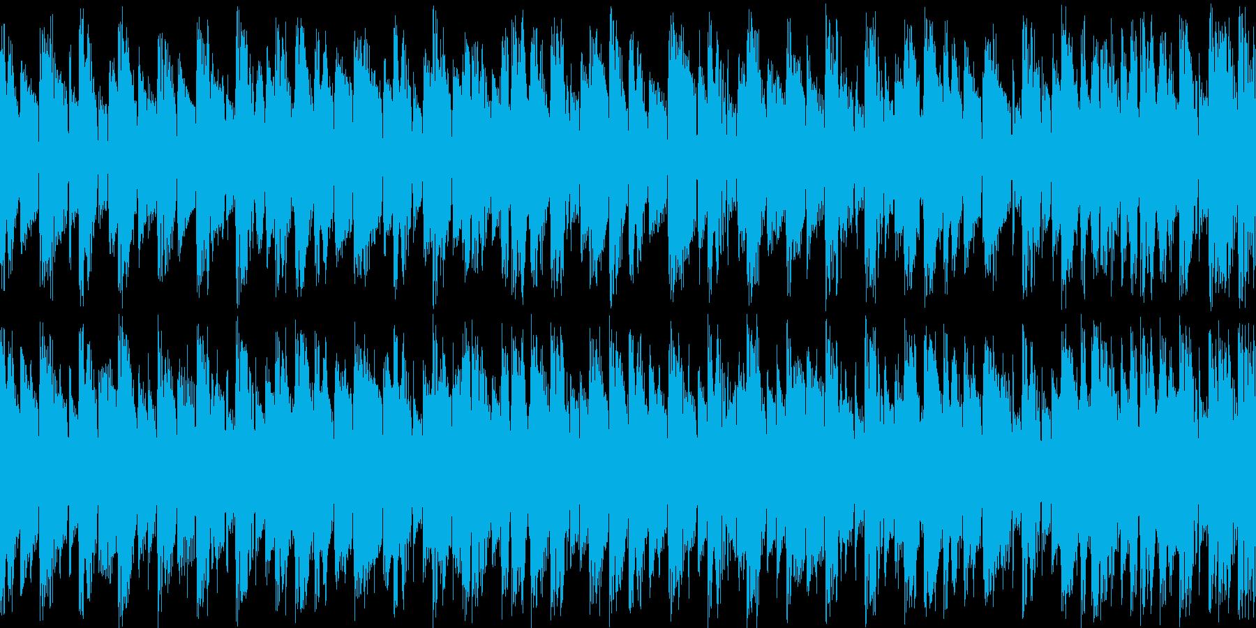 デジロック風四つ打ちループの再生済みの波形