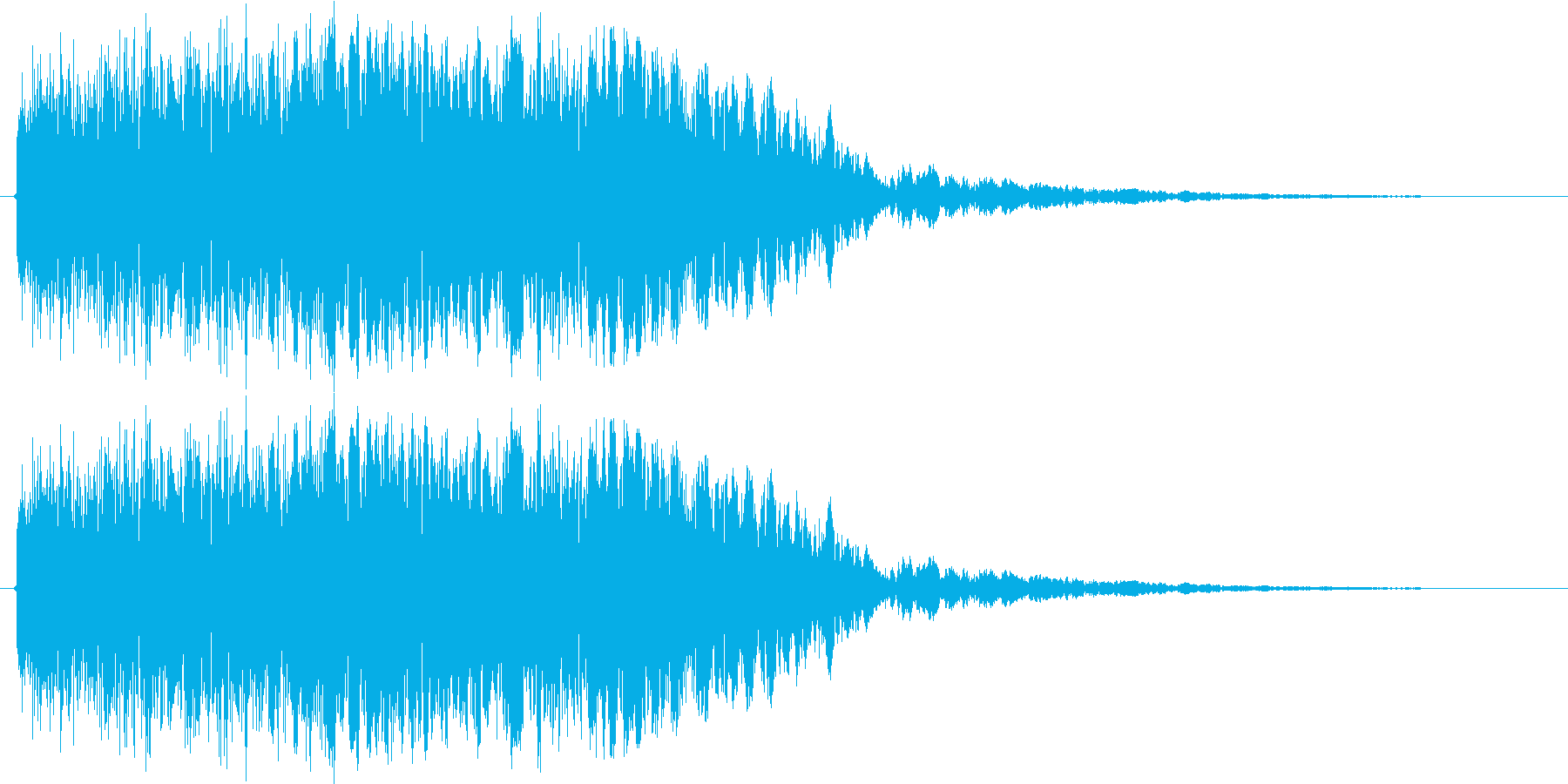 ロボが合体や変形する時の音の再生済みの波形
