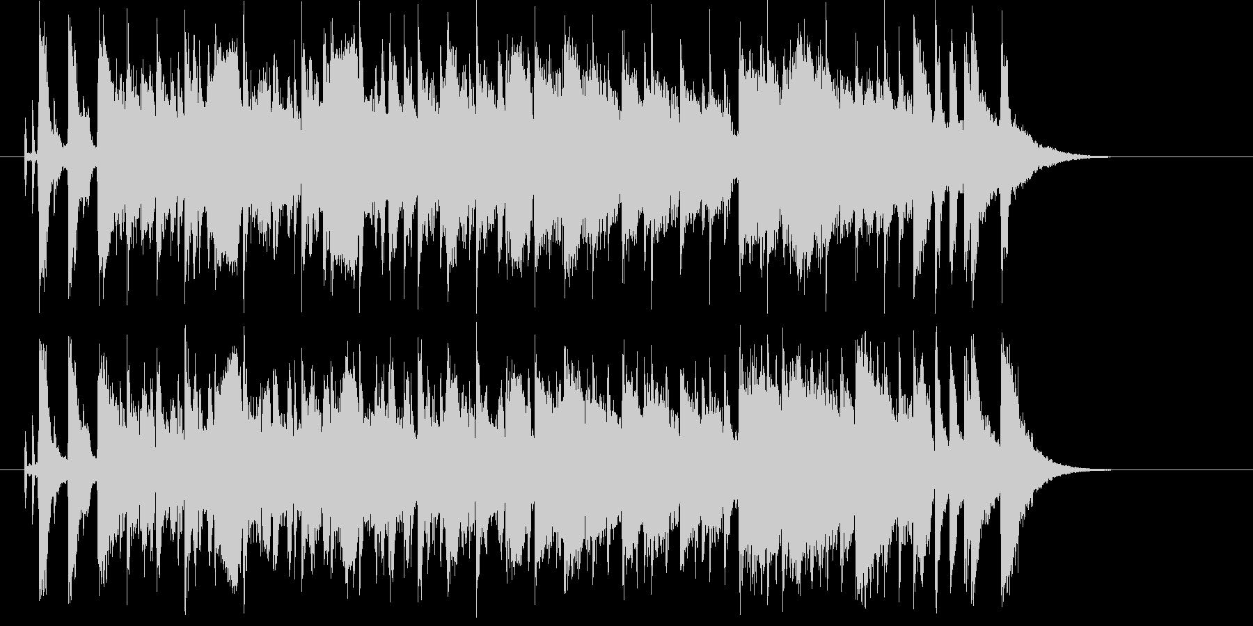 爽やかで広がりのあるシンセの曲の未再生の波形