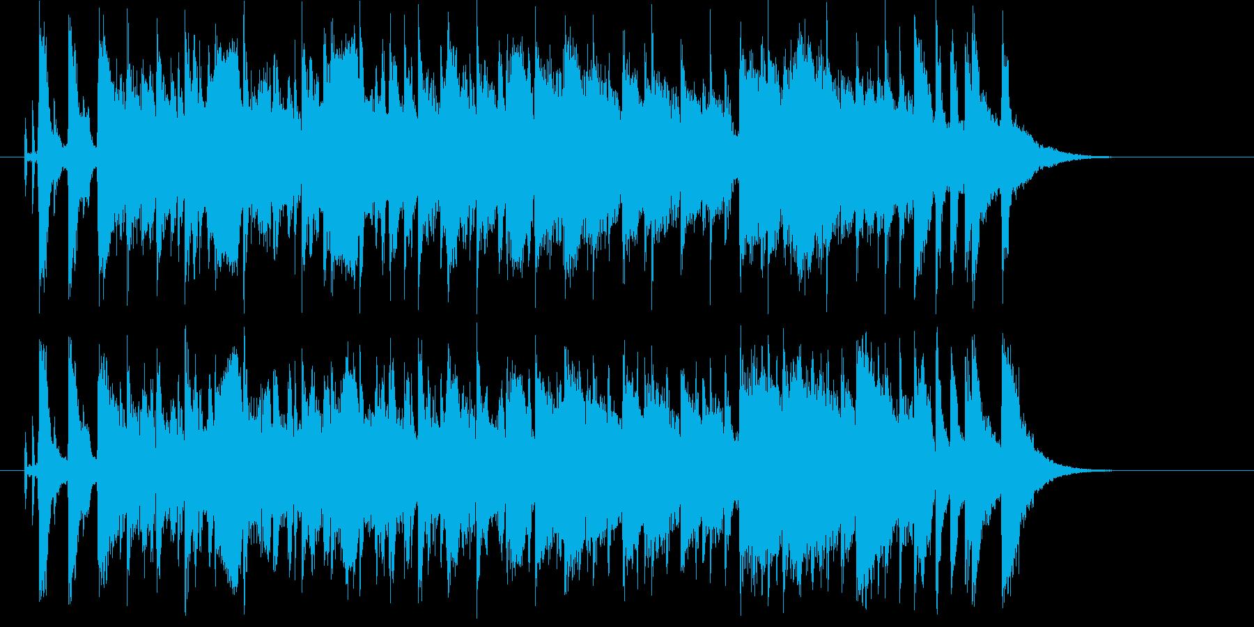 爽やかで広がりのあるシンセの曲の再生済みの波形
