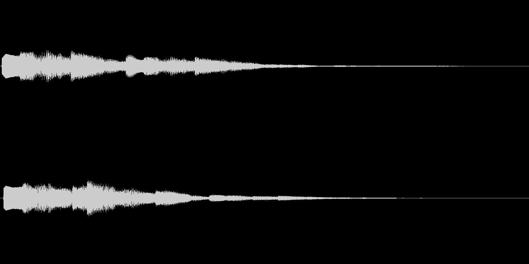 デジタル決定音2ーポップ 明るい シンセの未再生の波形