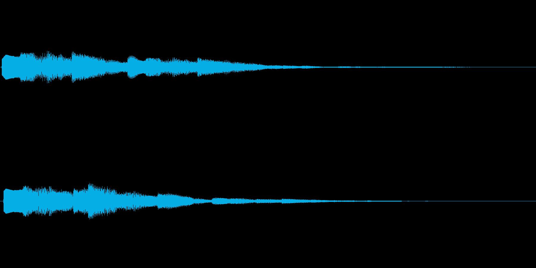 デジタル決定音2ーポップ 明るい シンセの再生済みの波形