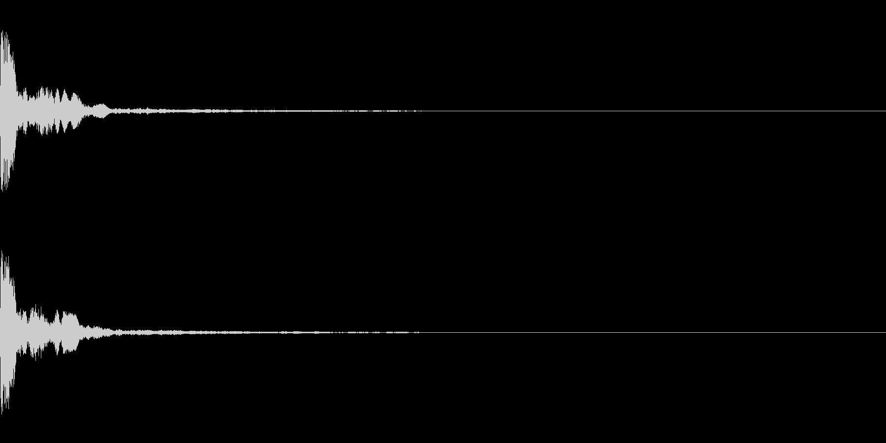 ピュン(起動、選択、決定)の未再生の波形