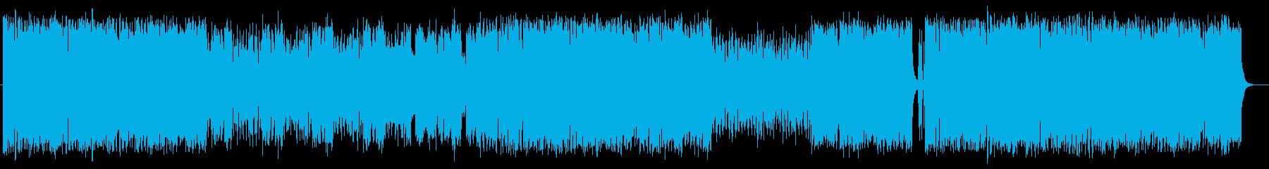 爽やかで開放感あるミュージックの再生済みの波形