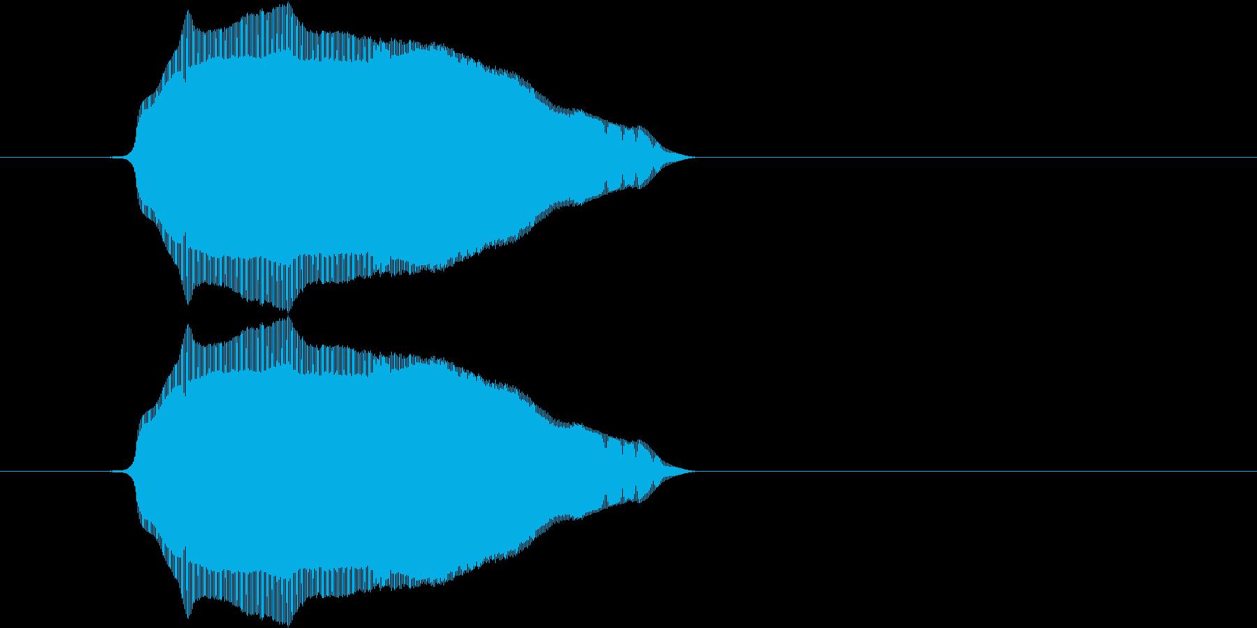 (猫の鳴き声)の再生済みの波形