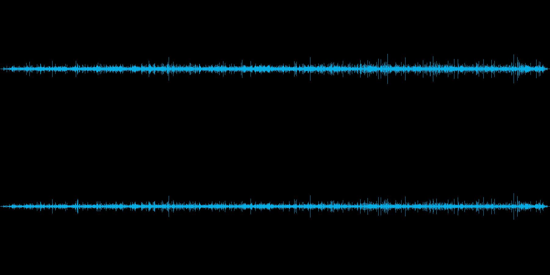 蛇口の中の音の再生済みの波形