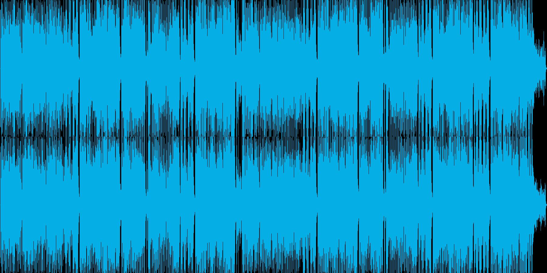 楽しいスウィングジャズの再生済みの波形