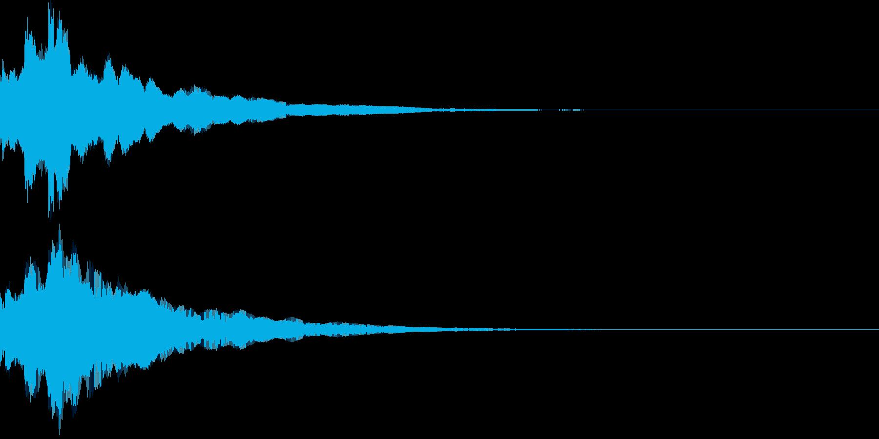 アプリ・ゲーム効果音、通知01の再生済みの波形