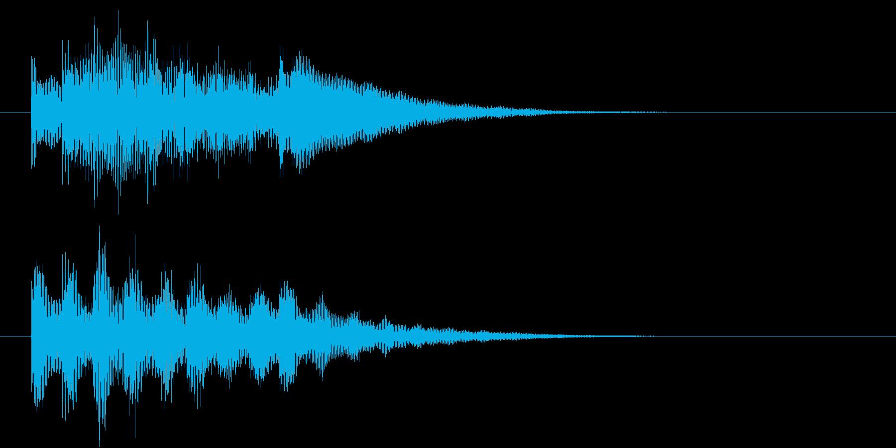 不思議なビブラフォンの駆け上がりの再生済みの波形