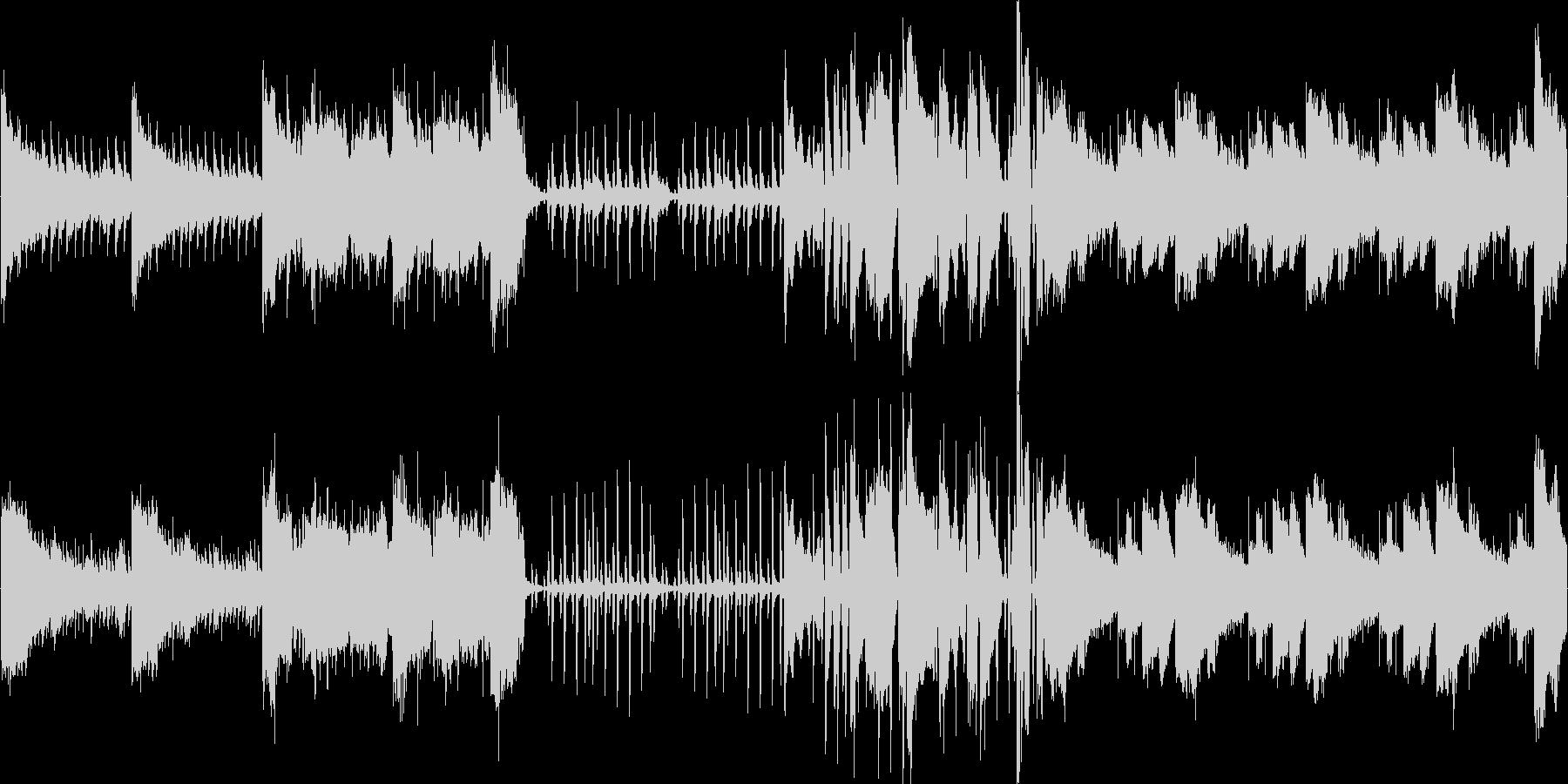 ちょっとダーク系の曲ですの未再生の波形