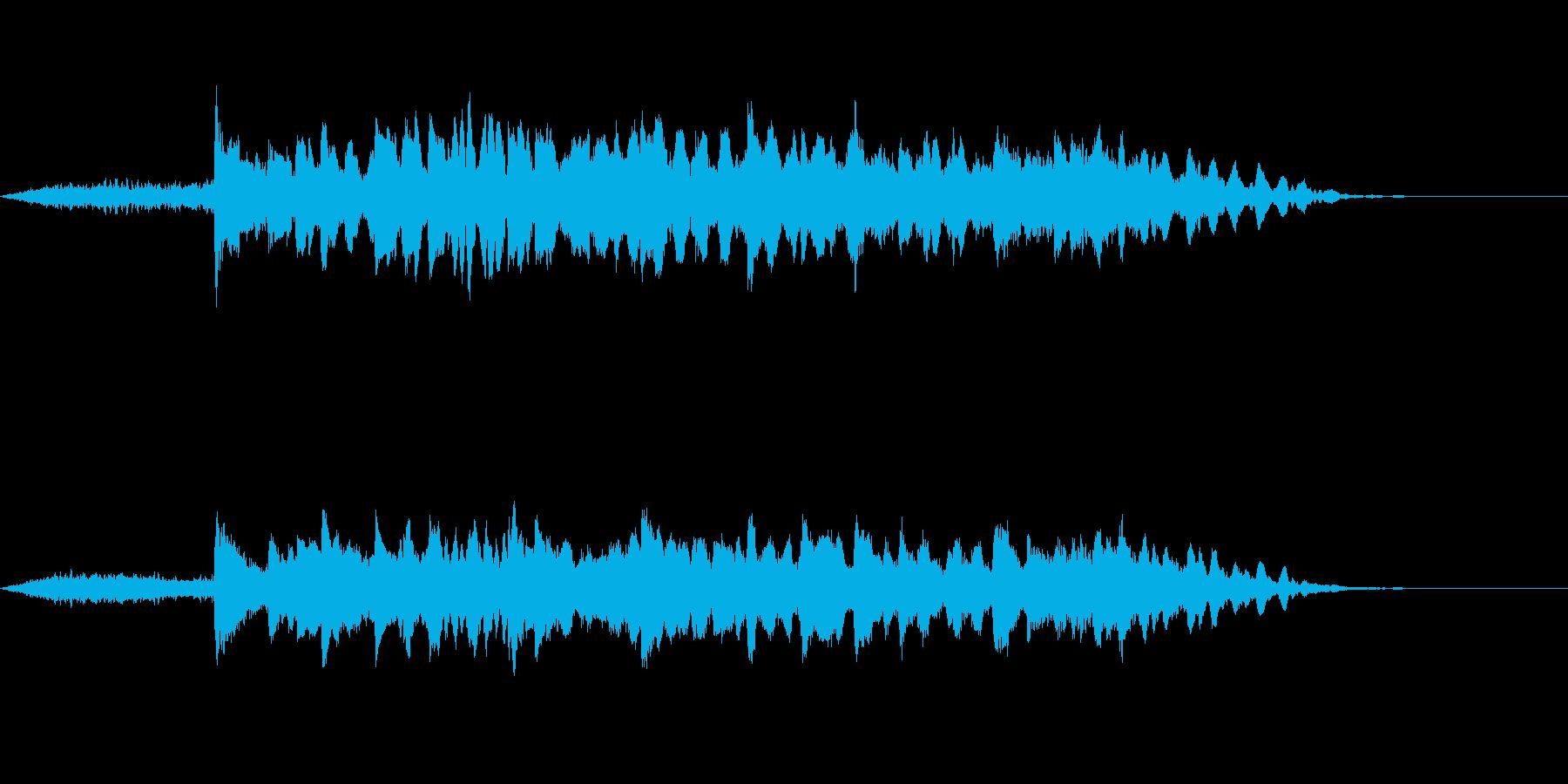尺八と琴のゆったりとした和風ジングルの再生済みの波形