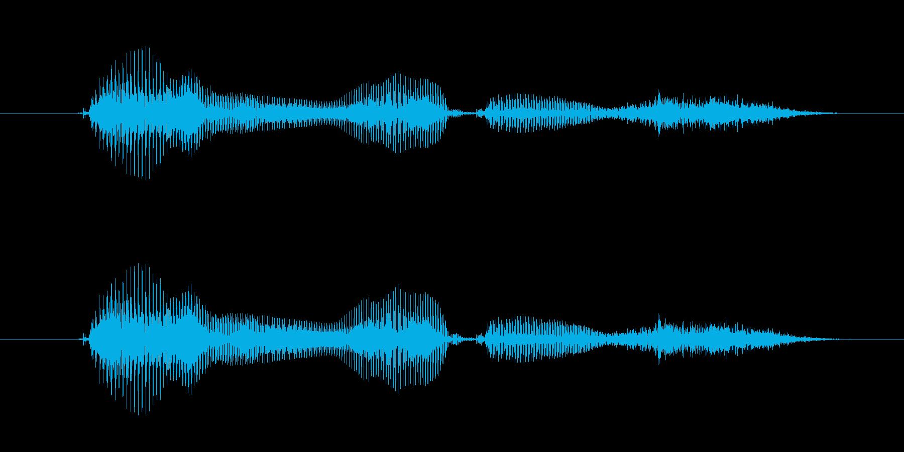 「電話です」の再生済みの波形