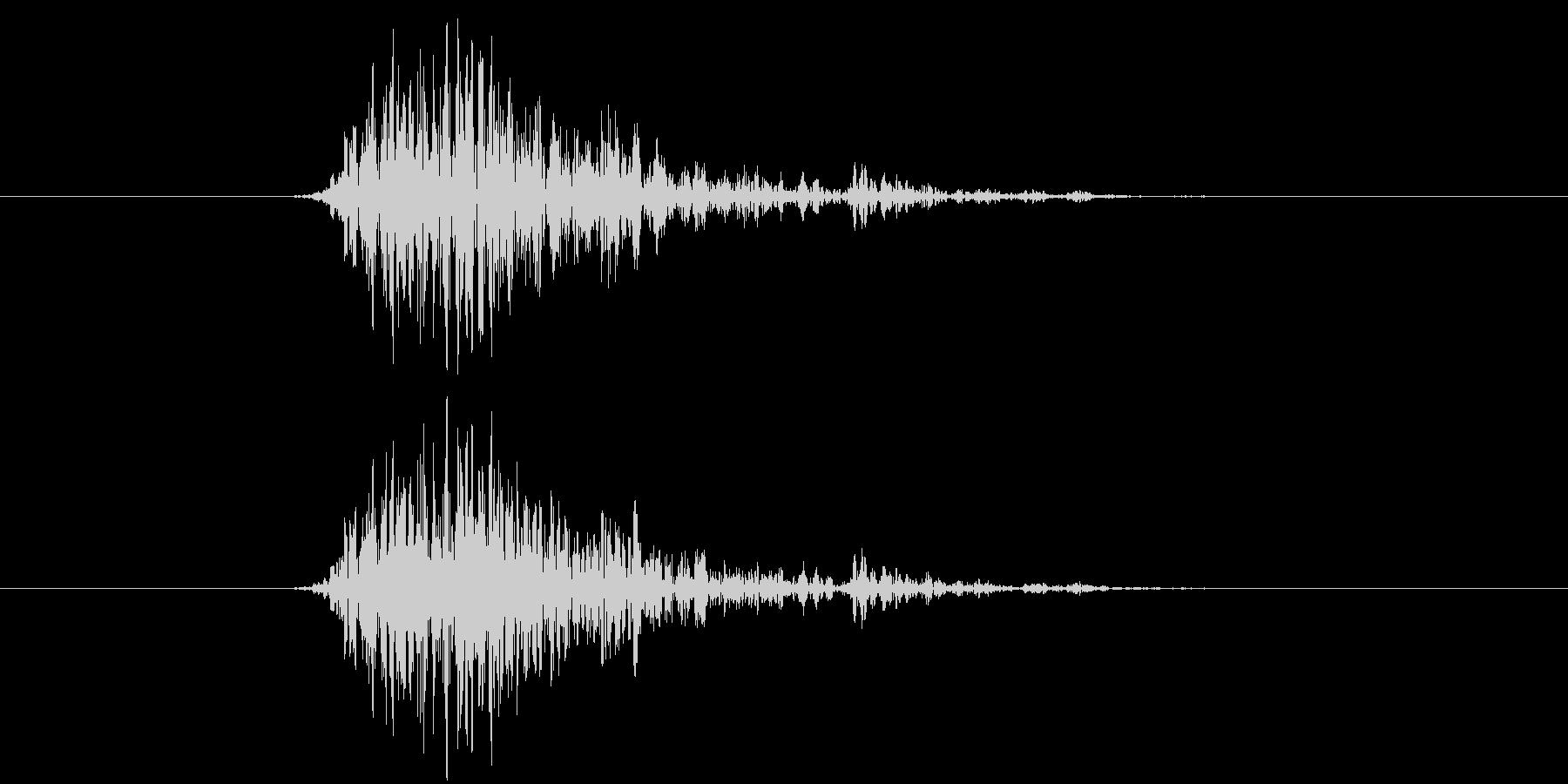ビュン(ゲーム、レーザー、発射)の未再生の波形