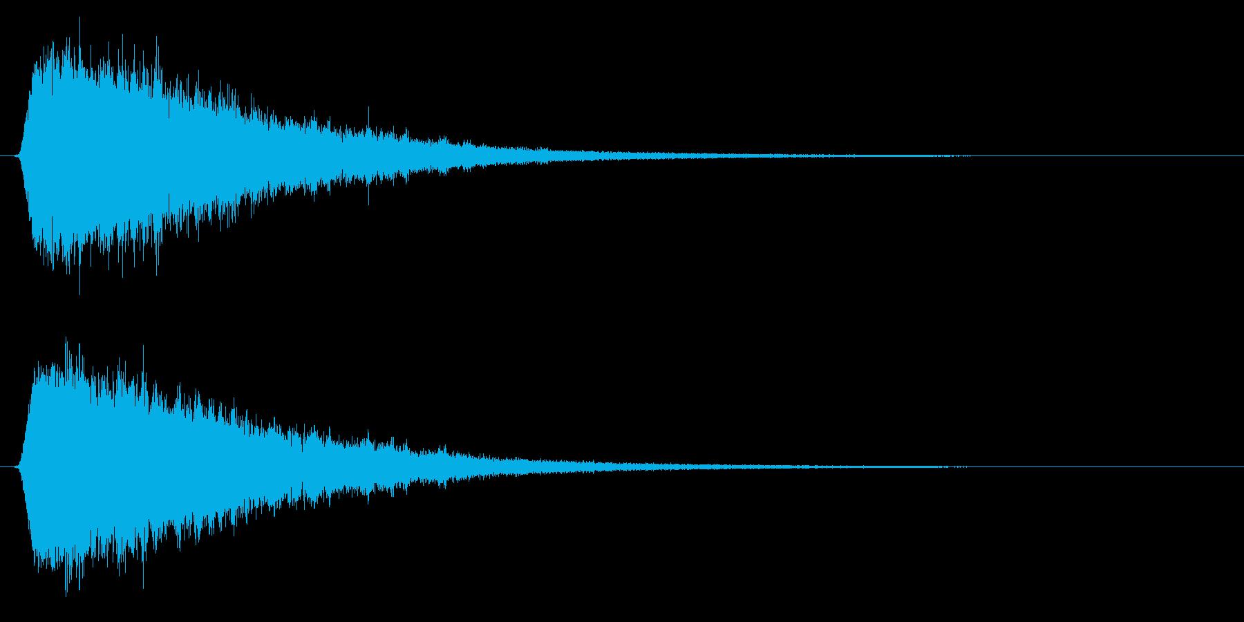 氷魔法/ゲーム/魔法エフェクトの再生済みの波形