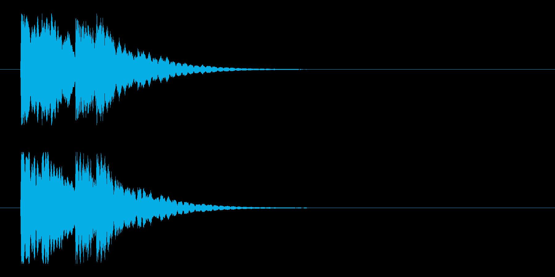 チャイムお知らせ注意喚起の再生済みの波形