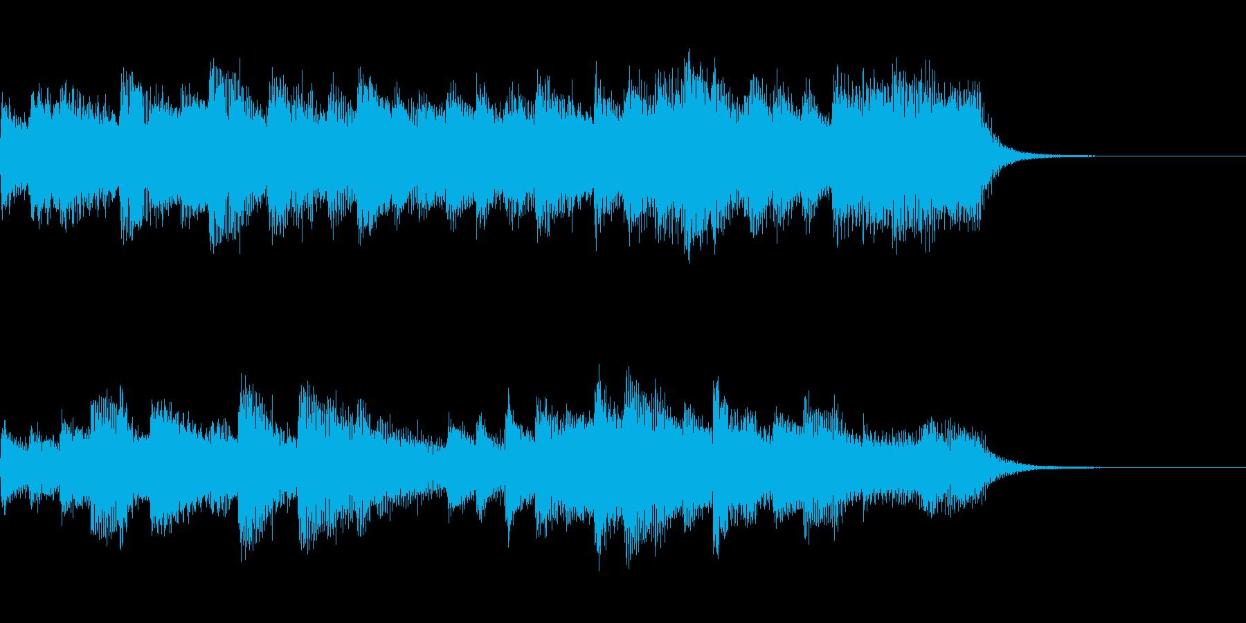 しっとり穏やかなピアノジングルの再生済みの波形