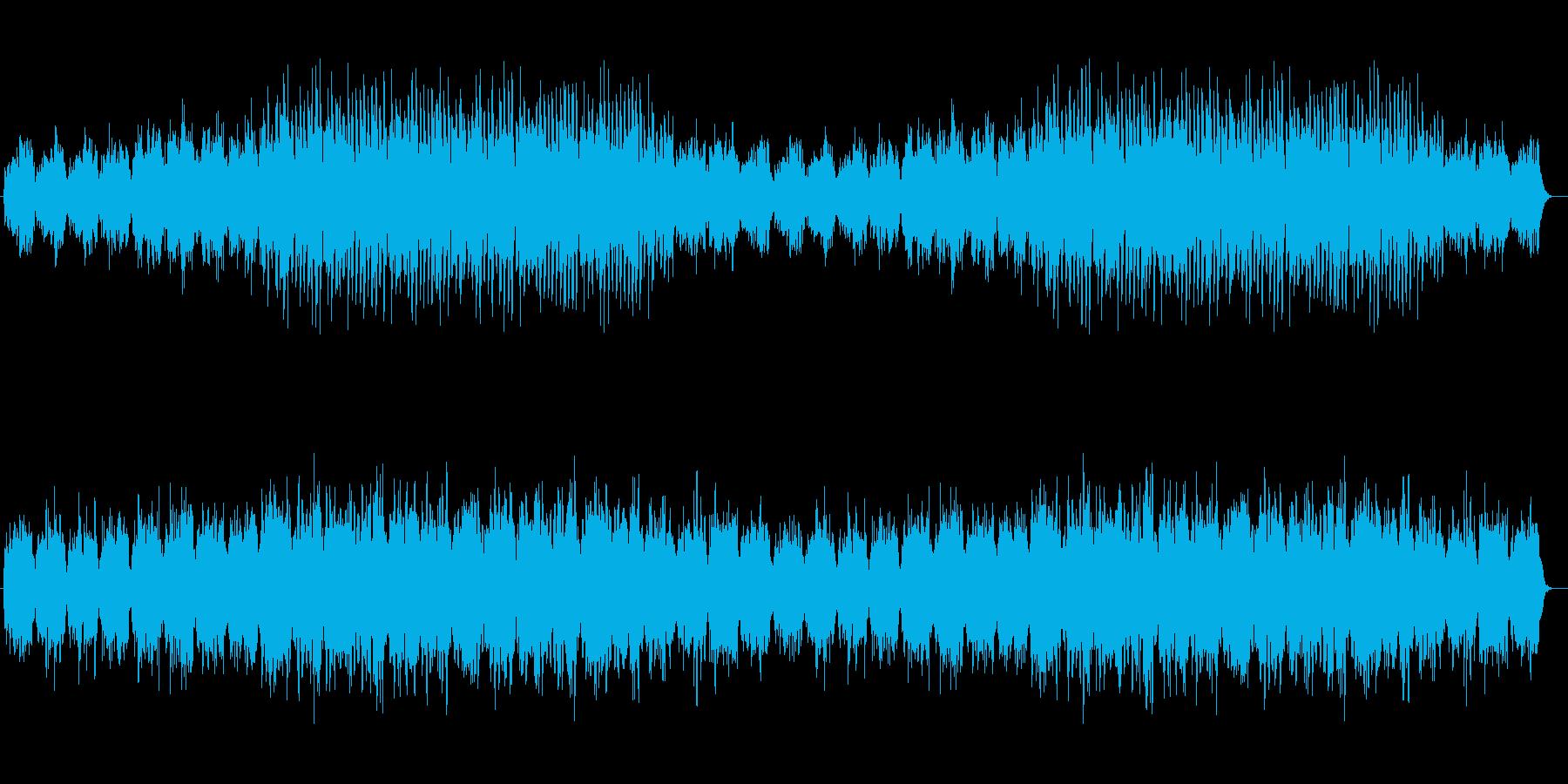 穏やかなシンセサイザーサウンドの再生済みの波形