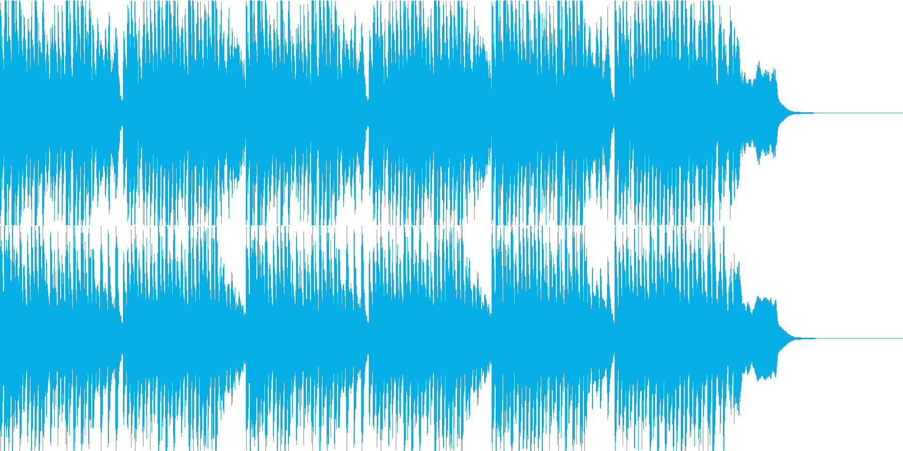 料理番組のピッチカートBGMの再生済みの波形