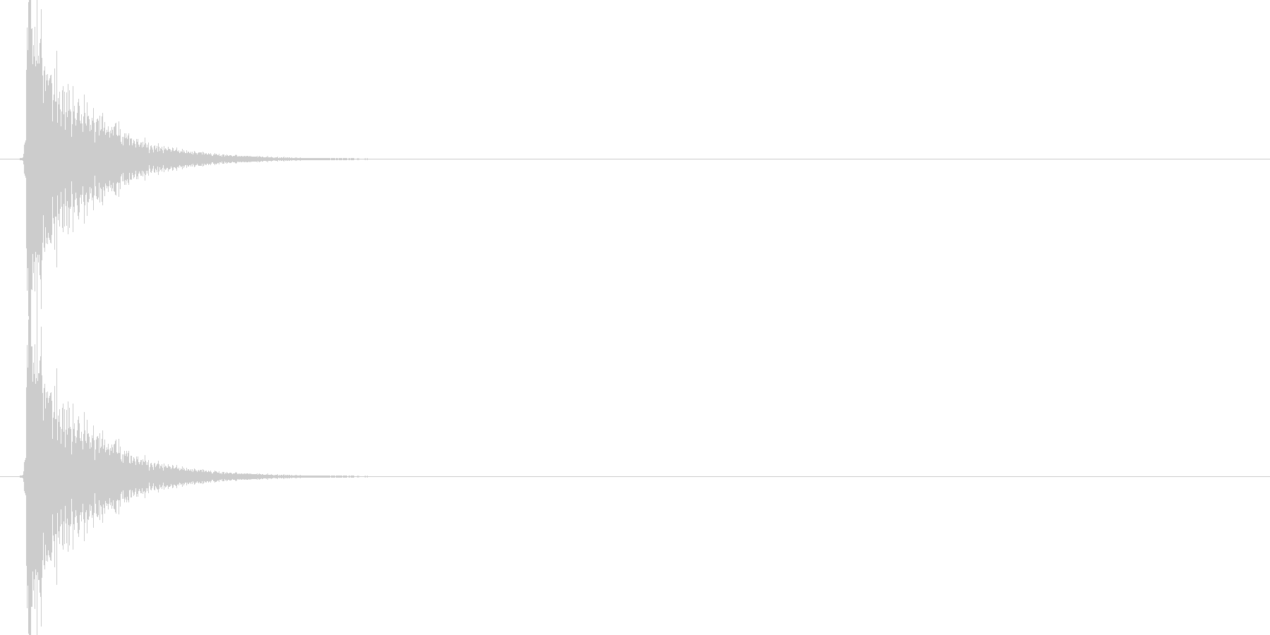パーン!(ビンタ、平手、張り手のSE)の未再生の波形