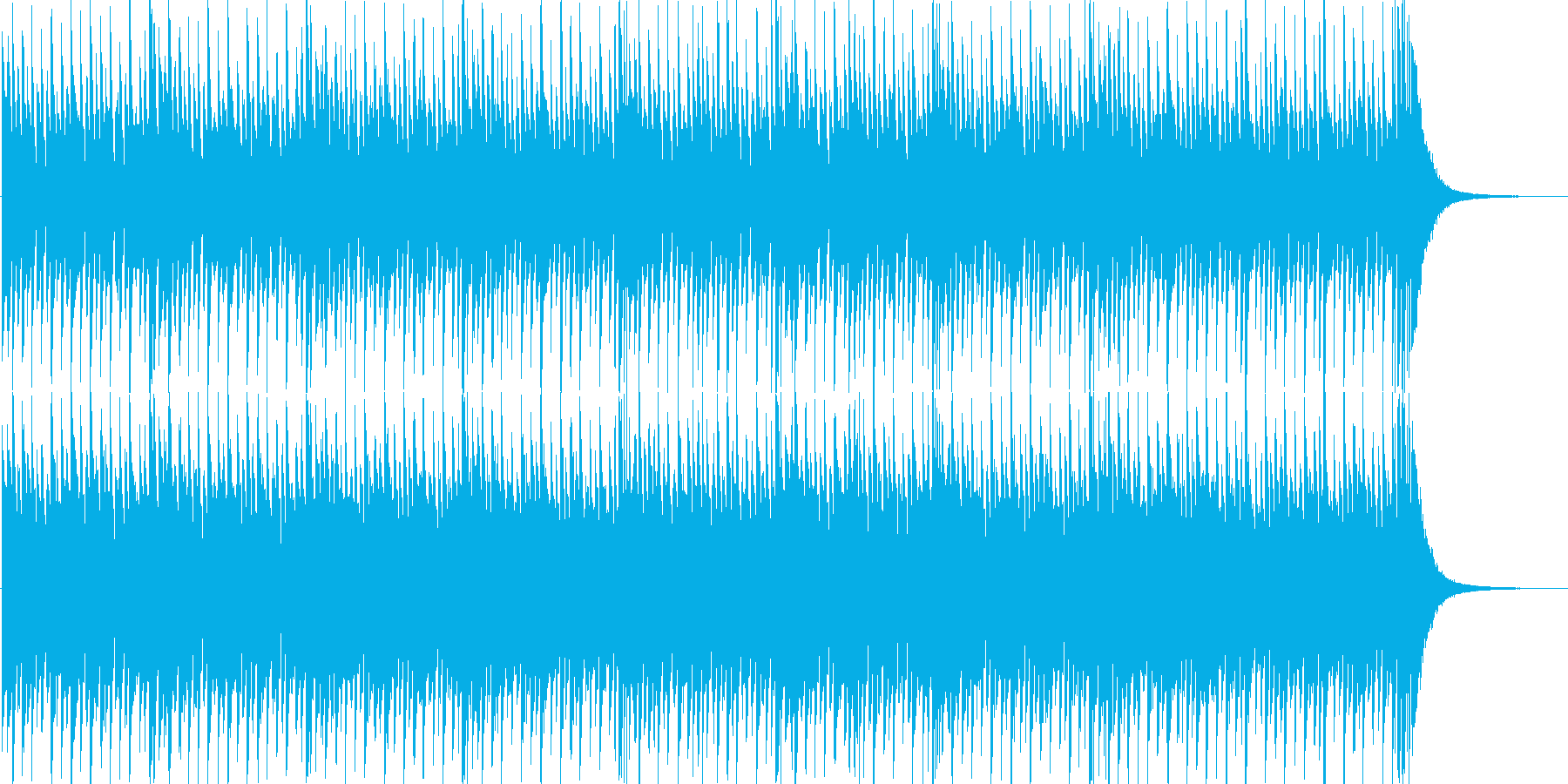 軽快・ロック・ゲーム・イベント・映像用の再生済みの波形