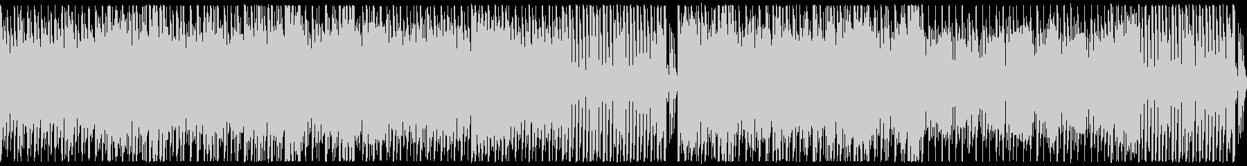 明るくリズミカルで少しコミカルな曲の未再生の波形