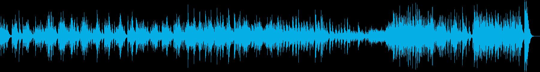 不協和音がいっぱいの木管メインの曲の再生済みの波形
