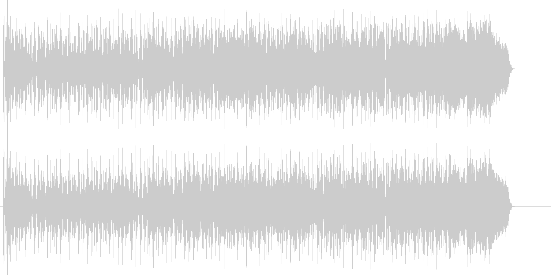 ブルージーなマイナーシャッフルロックの未再生の波形