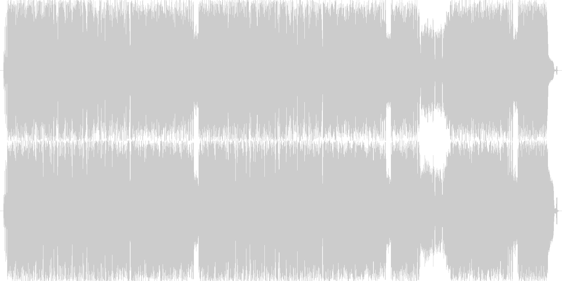 明るくキャッチーな曲ですの未再生の波形