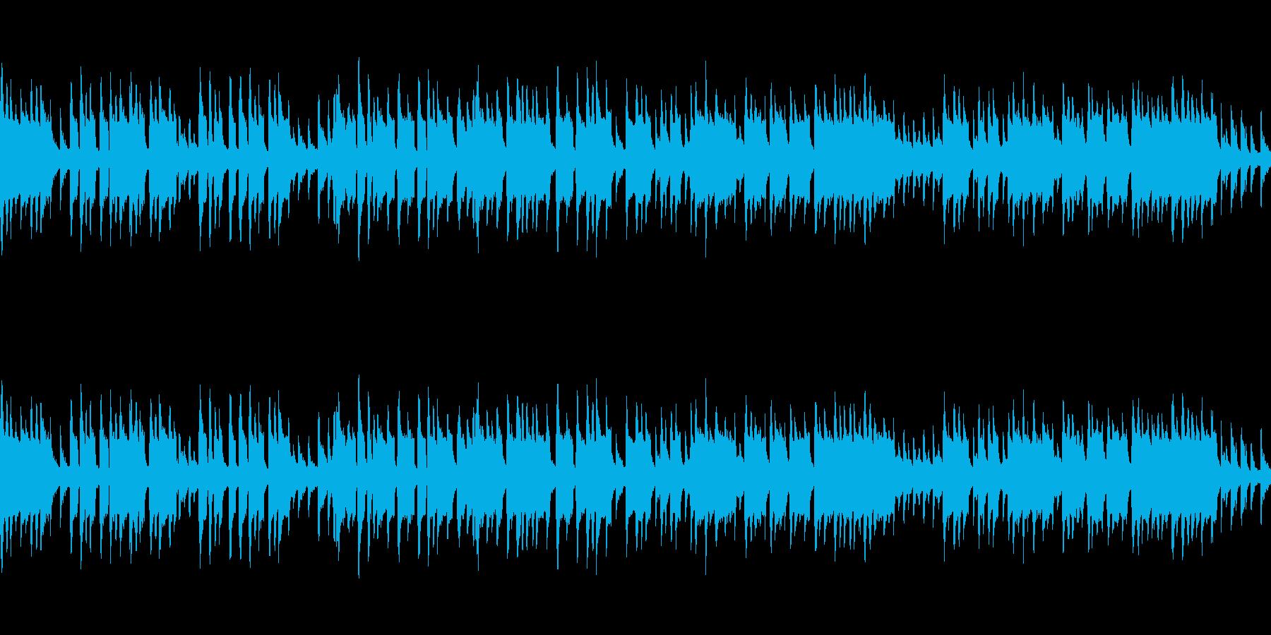 尺八がメインの和風曲の再生済みの波形