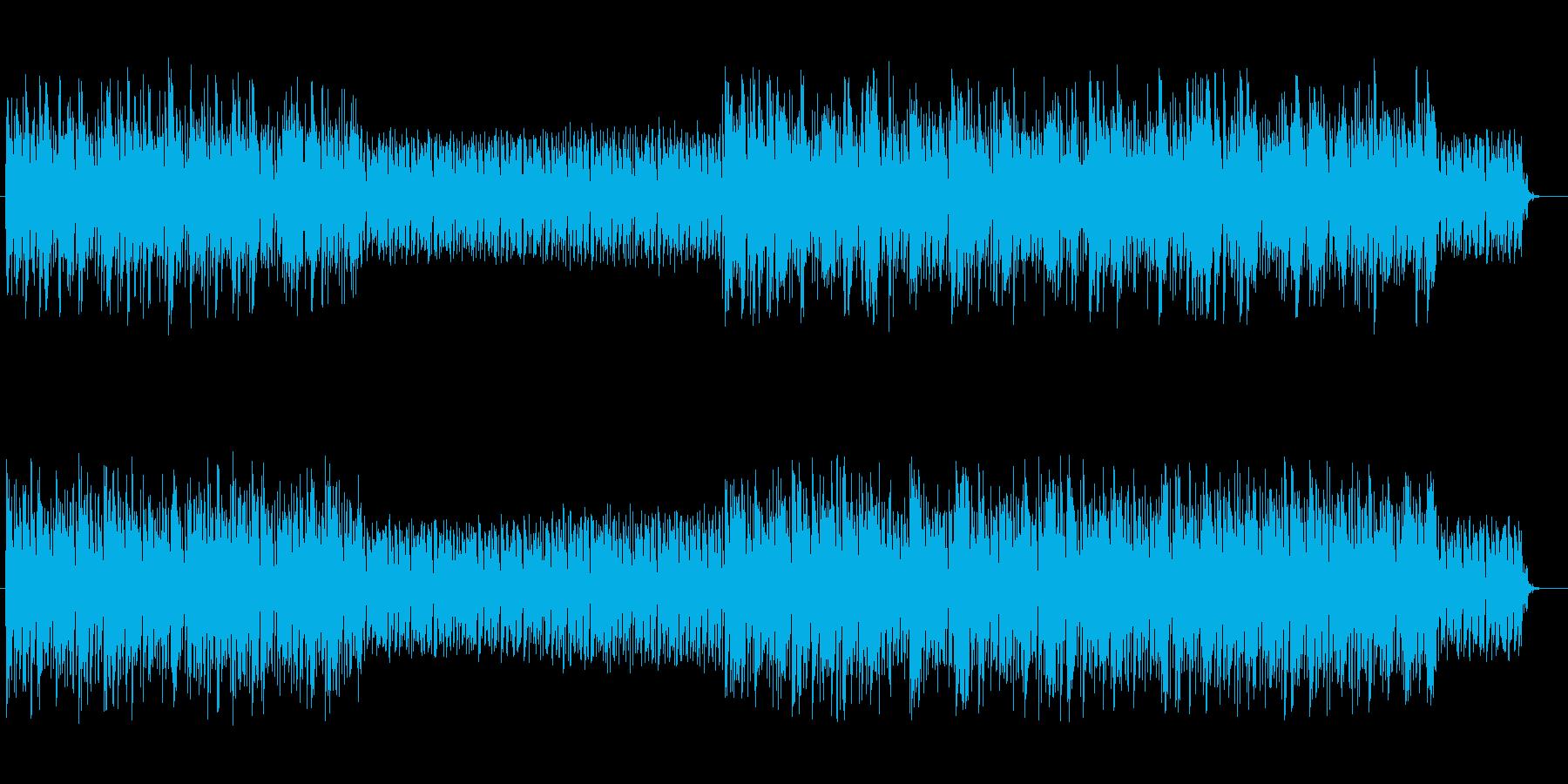 クールで疾走感のあるテクノポップの再生済みの波形