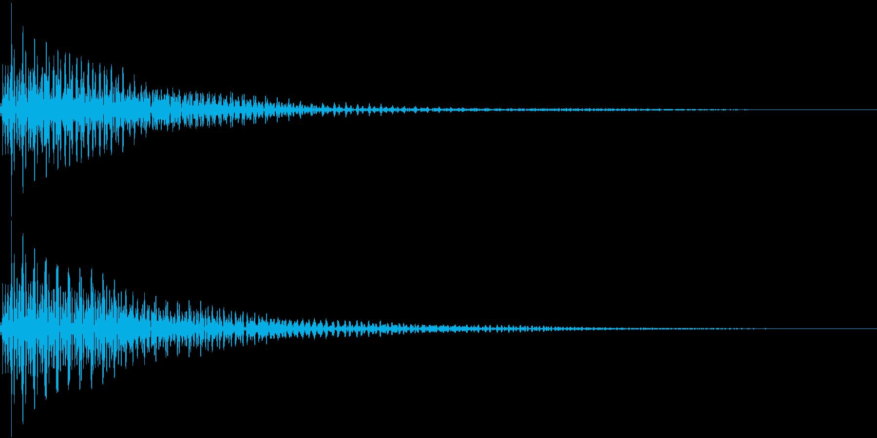 Button 決定ボタン 低音重厚の再生済みの波形