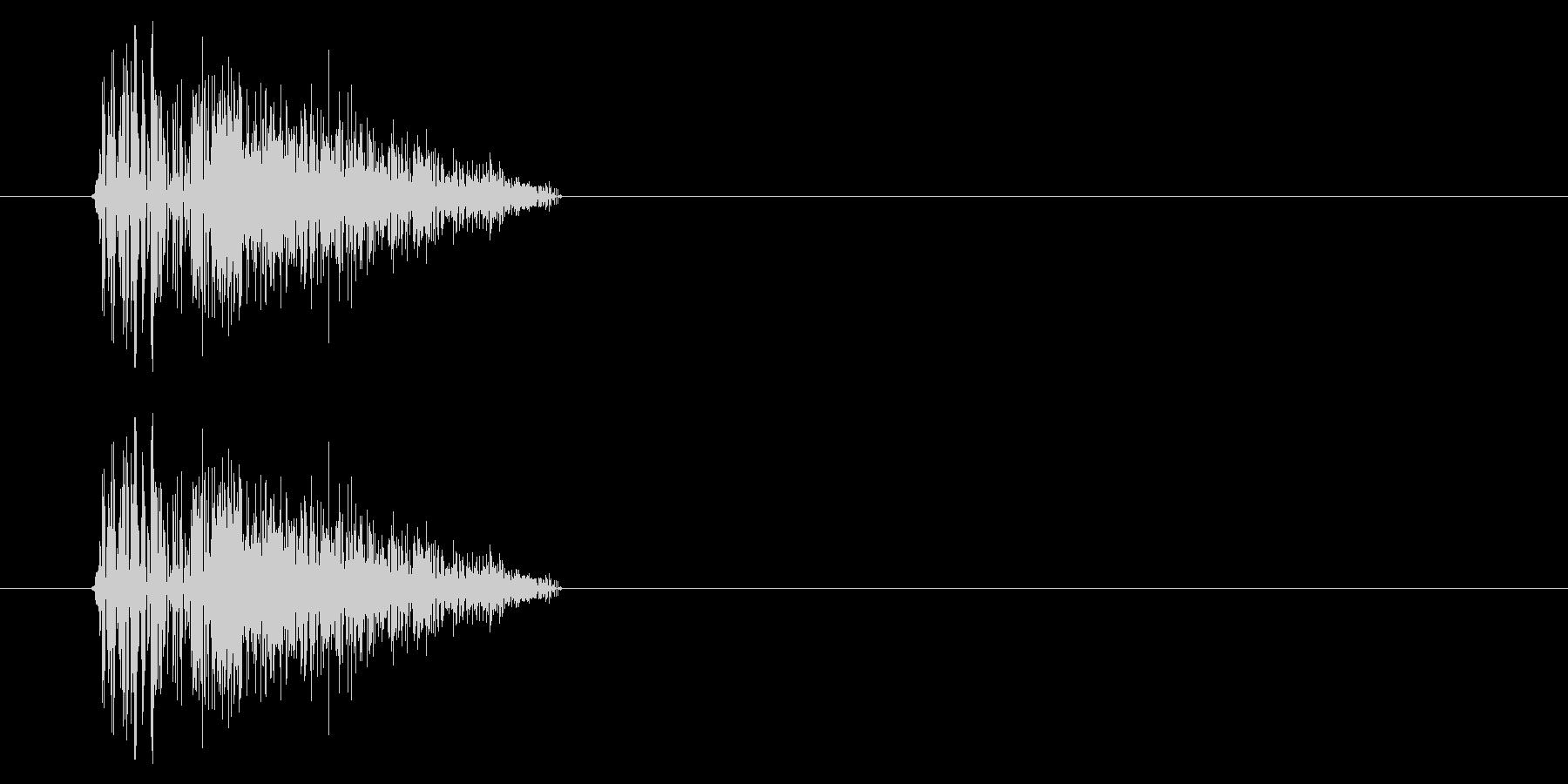 NES シューティング01-4(ダメージの未再生の波形