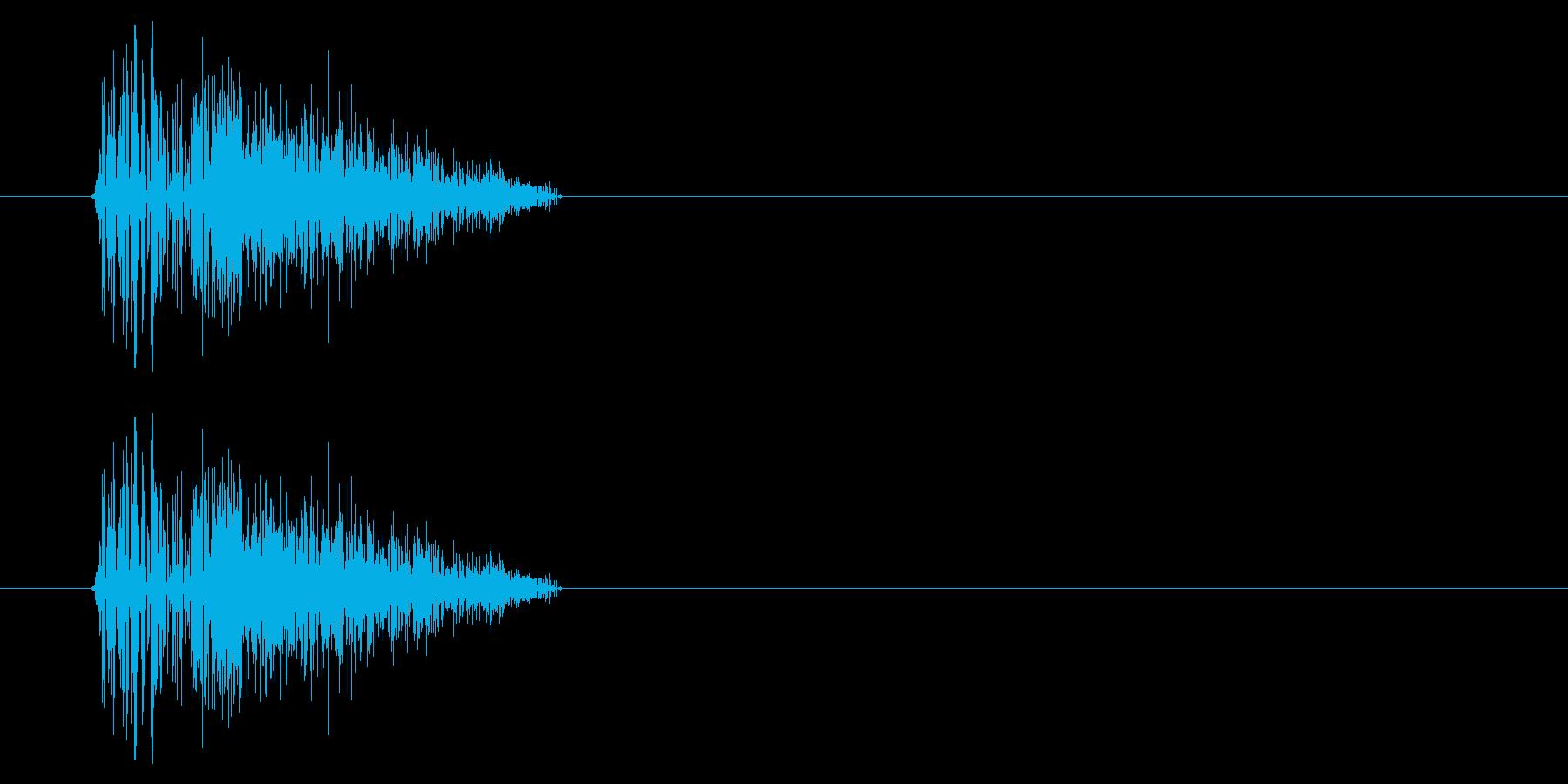 NES シューティング01-4(ダメージの再生済みの波形