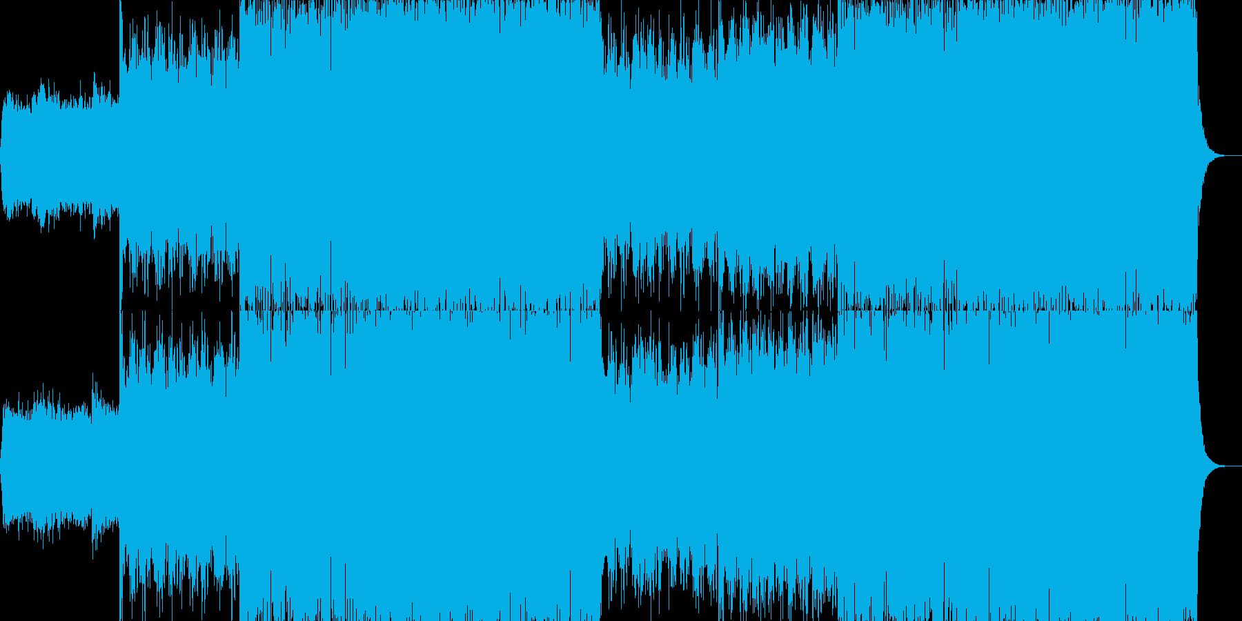 現代的で都会的なシンセミュージック-21の再生済みの波形