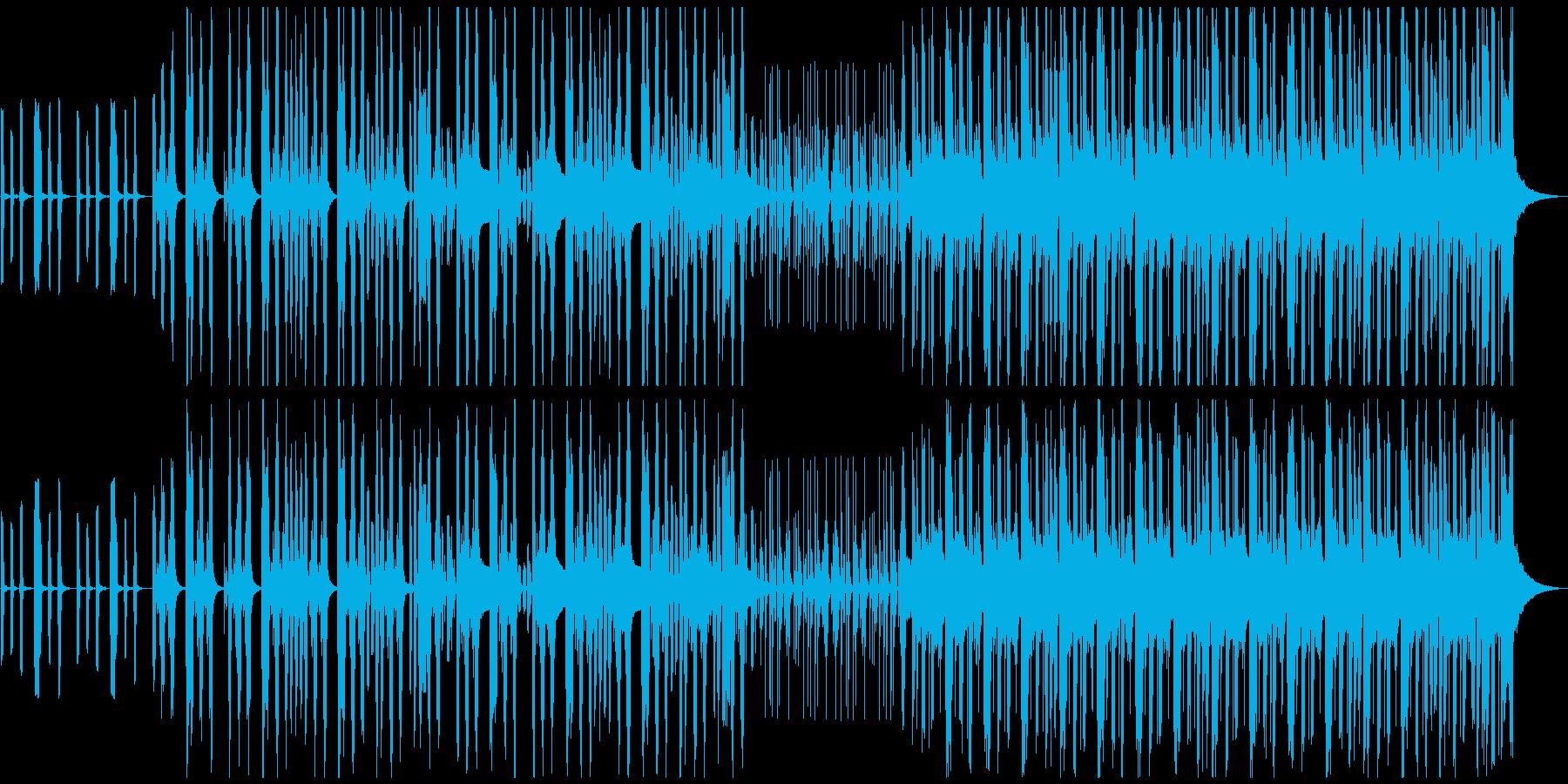 コミカルで可愛い雰囲気のリコーダーマーチの再生済みの波形