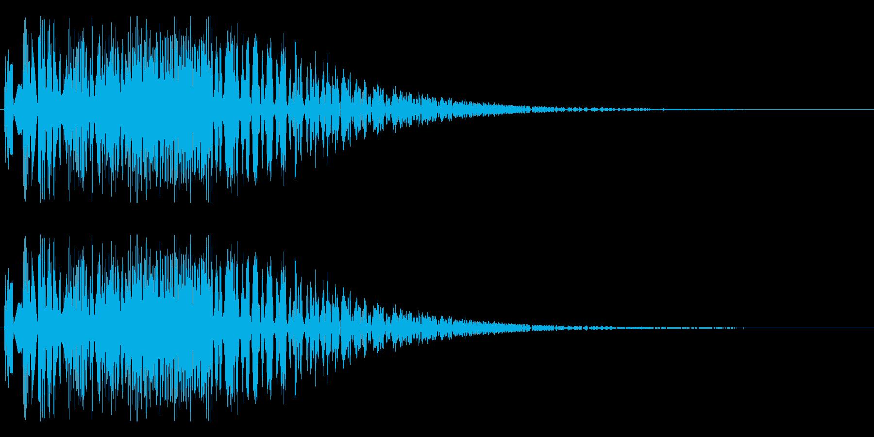 バシャッ06(水・液体系のアクション音)の再生済みの波形
