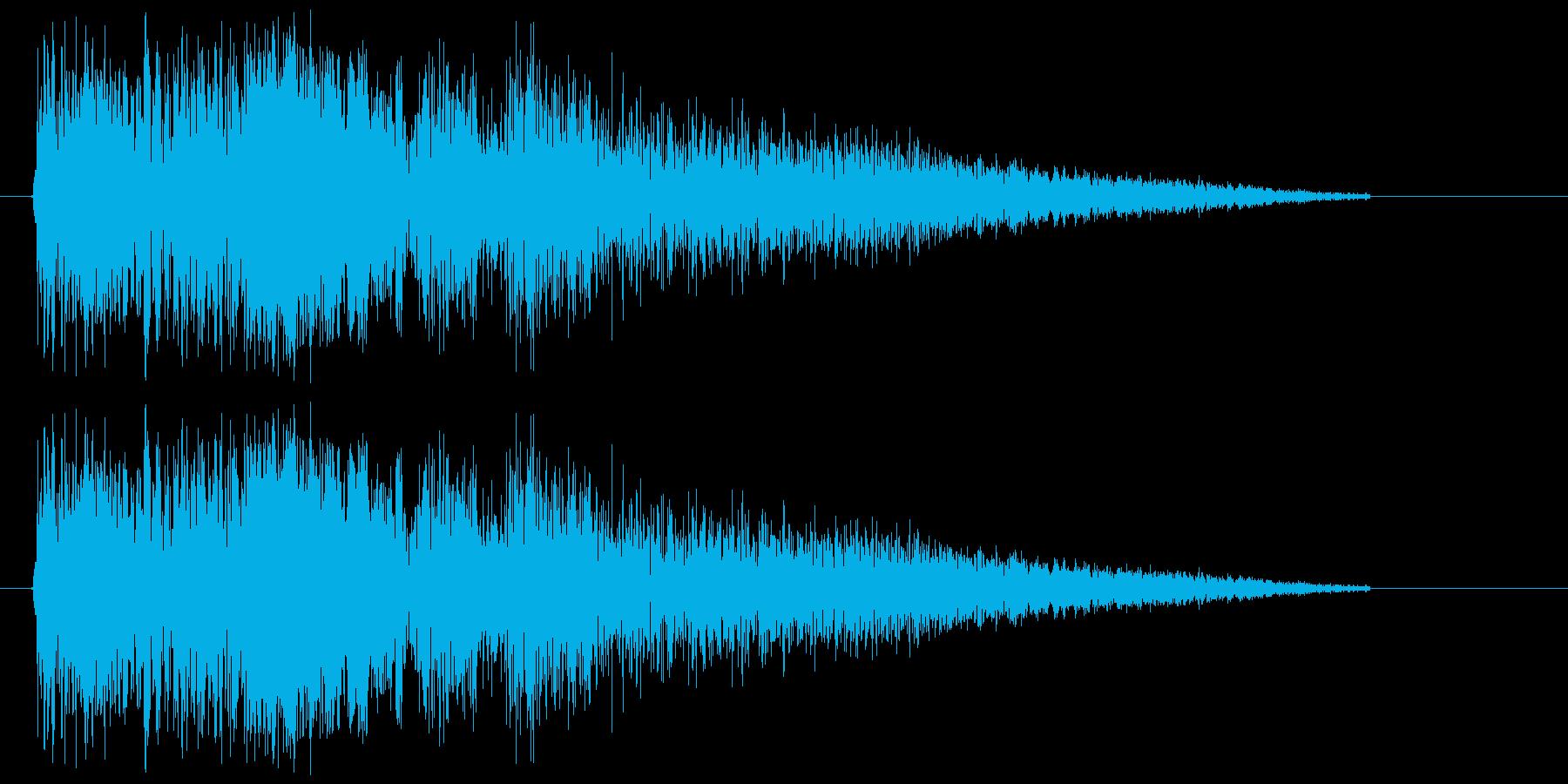 バキュン!という拳銃の音ですの再生済みの波形